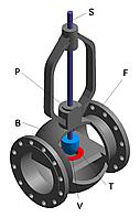 Клапан регулирующий проходной