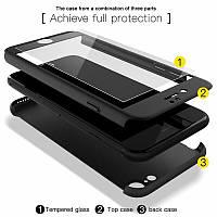 Чехол для Iphone 6/IPhone 6S 360 градусов + стекло black