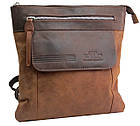 Вертикальная мужская кожаная сумка Always Wild BAG4HB, фото 2