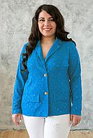 Donna-M Жакет из гипюра ДЖЕННИ голубой , фото 1