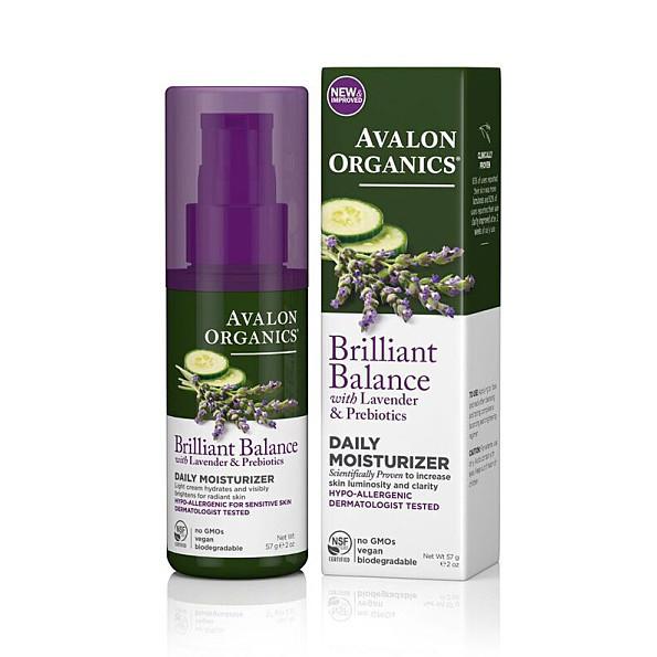 Дневное увлажняющее средство с экстрактами лаванды, огурца и пребиотиками *Avalon Organics (США)*