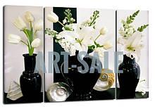 Картина Триптих  Белые Тюльпаны