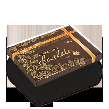 Шоколад «Коммунарка» горький 68% 500гр (Беларусь), фото 2