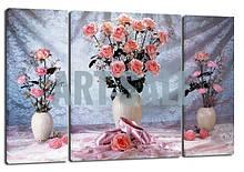 Картина Триптих  Розовые розы