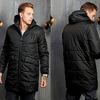 Мужское удлиненное зимнее пальто
