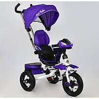 Детский трехколесный Велосипед Best Trike 6699 Фиолетовый белая рама,надувные колеса