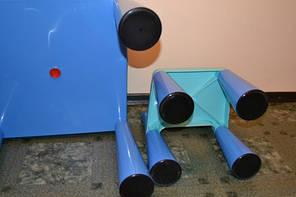 Комплект детской мебели стол 2в1 и 2 стульчика Tega Mamut сиреневый, подходит для Lego, фото 3