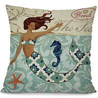 Подушка декоративная для дивана Русалка Siren 45 х 45 см