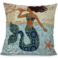 Подушка декоративная Русалка Mermaid 45 х 45 см