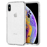 Чехол Spigen для iPhone X Liquid Crystal Glitter, Crystal Quartz (057CS22122), фото 1