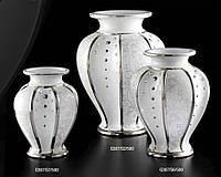 Белого цвета, роскошная ваза в гостиной с кристаллами Сваровски - G307/С2/500 - 40x33 см
