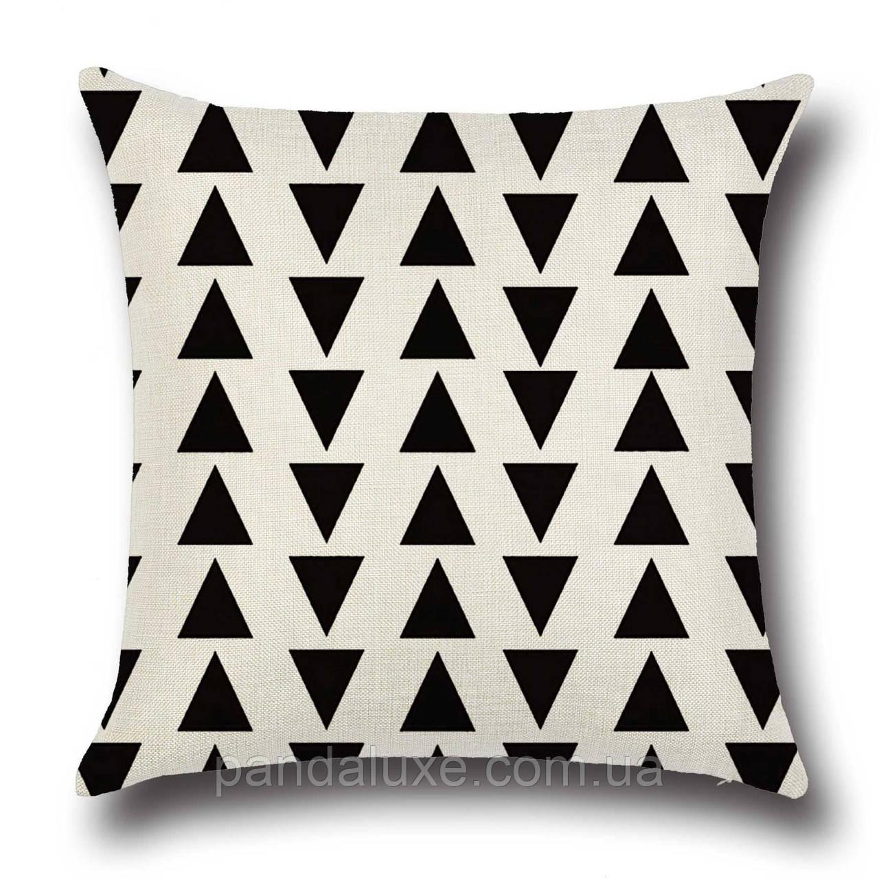 Подушка декоративная для дивана Маленькие треугольники 45 х 45 см