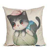 Подушка декоративная Kitten Playing 45 х 45 см
