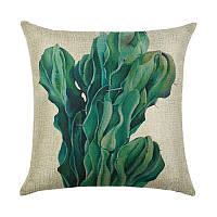 Подушка декоративная для дивана Кактус 45 х 45 см