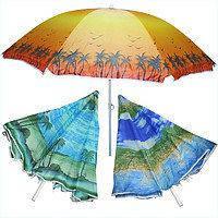 Зонт пляжный 180 см + бур для песка + чехол с ручкой