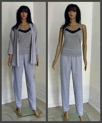 Пижама с брюками, тройка, фото 2