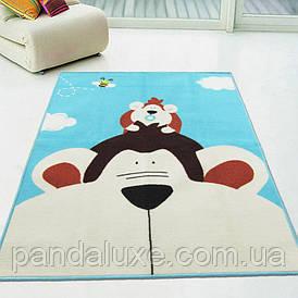 Килимок для дитячої кімнати Monkey на гумовій основі 100 х 130 см