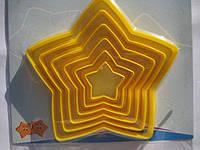 """Вырубки для мастики и теста """"звезда""""6шт.(код 00508)"""