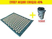 Коврик массажный (акупунктурный) Аппликатор Кузнецова Релакс 55х40 VMSport (ap-0003) Голубой