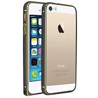 Бампер для Iphone 6 plus, 6S plus Металлический Space Grey