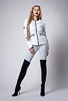 Женская молодежная демисезонная куртка. Цвет белый. Размеры 42- 48