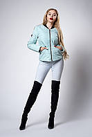 Женская молодежная демисезонная куртка. Цвет мята. Размеры 42 - 48