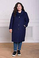 Donna-M Прямое пальто из букле МИРИАМ фиолетовый , фото 1