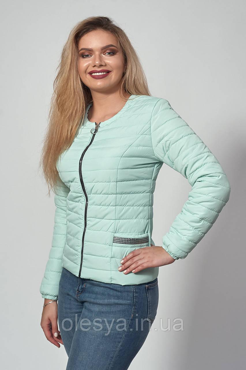 Женская демисезонная куртка. Код модели К-122-37-18. Цвет мята.