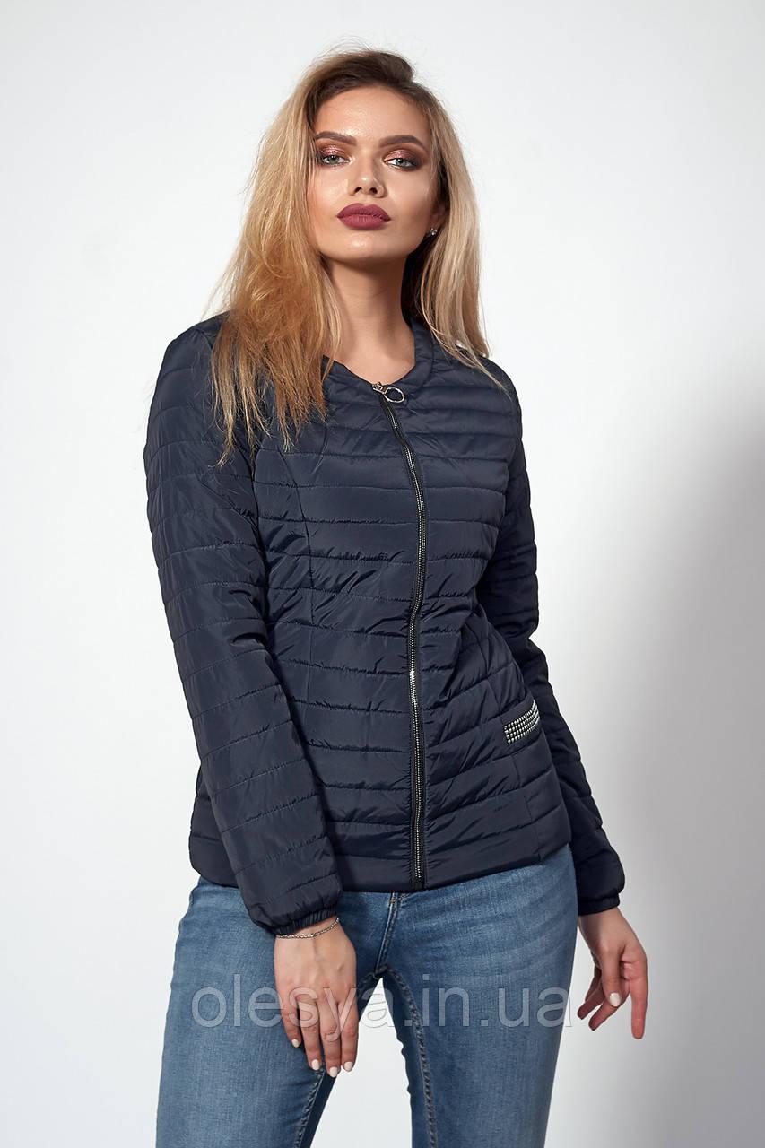 Женская демисезонная куртка. Код модели К-122-37-18. Цвет темно синий.