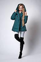 Женская молодежная демисезонная куртка. Код модели К-123-38-18. Цвет изумруд.