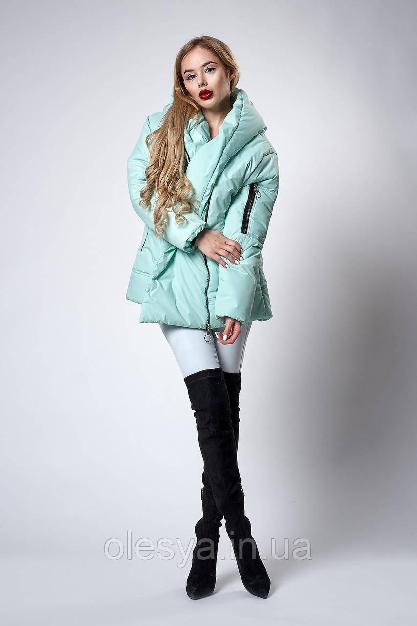 Женская молодежная демисезонная куртка. Код модели К-123-38-18. Цвет мята.