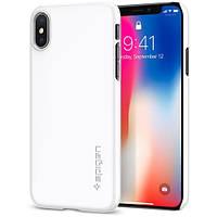 Чехол Spigen для iPhone X Thin Fit, Jet White (057CS22112), фото 1