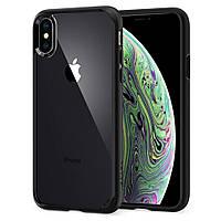 Чехол Spigen для iPhone X Ultra Hybrid, Matte Black ( 057CS22129), фото 1