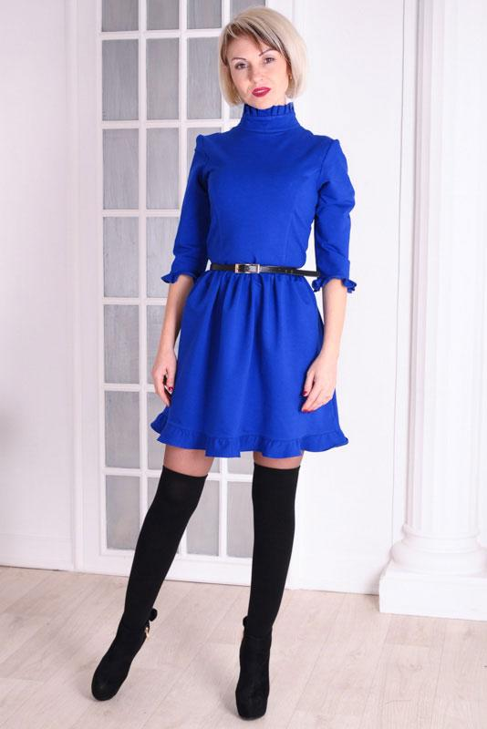 Женское платье цвет электрик Michael размеры 40-46