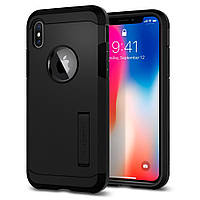 Чехол Spigen для iPhone X Tough Armor, Matte Black (057CS22160), фото 1