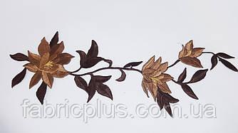 Аппликация (термо) веточка три цветка