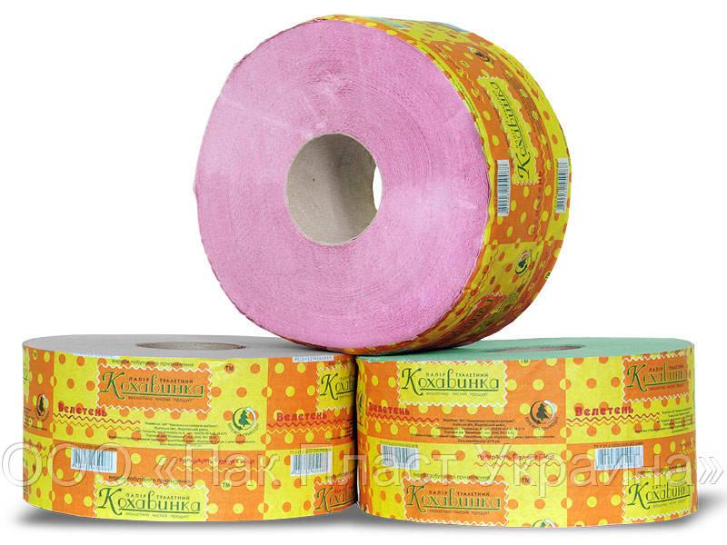 Бумага туалетная Джамбо Кохавинка Розовая