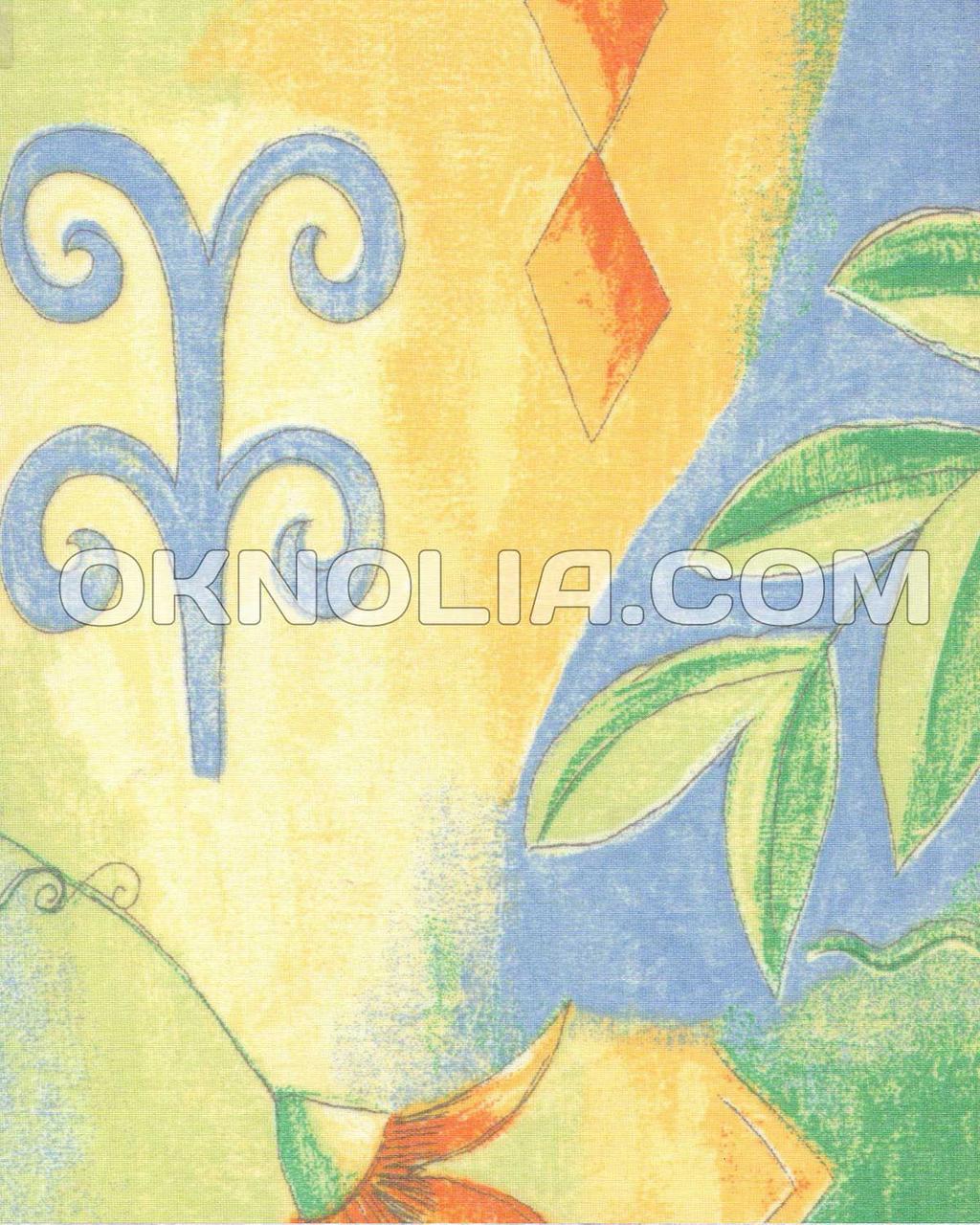 Тканевые ролеты Цитрус 4020 голубой, 50*170 см
