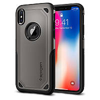 Чехол Spigen для iPhone X Hybrid Armor, Gunmetal (057CS22350), фото 1