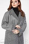 Стильная куртка-дубленка серого цвета, фото 2