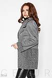 Стильная куртка-дубленка серого цвета, фото 3