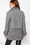 Стильная куртка-дубленка серого цвета, фото 4