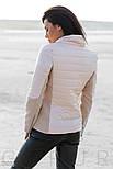 Демисезонная стеганная куртка персикового цвета, фото 3