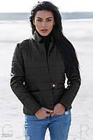 Легкая женская куртка черного цвета