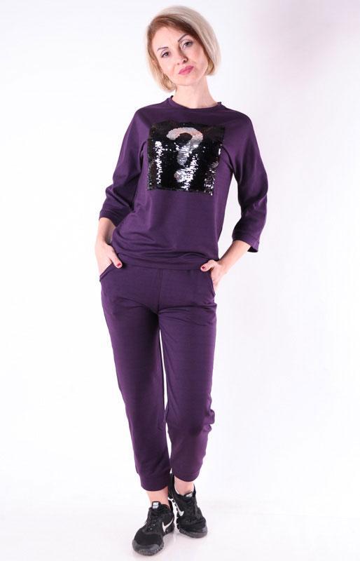 Женский  спортивный костюм  прогулочный фиолетовый размеры 40-46
