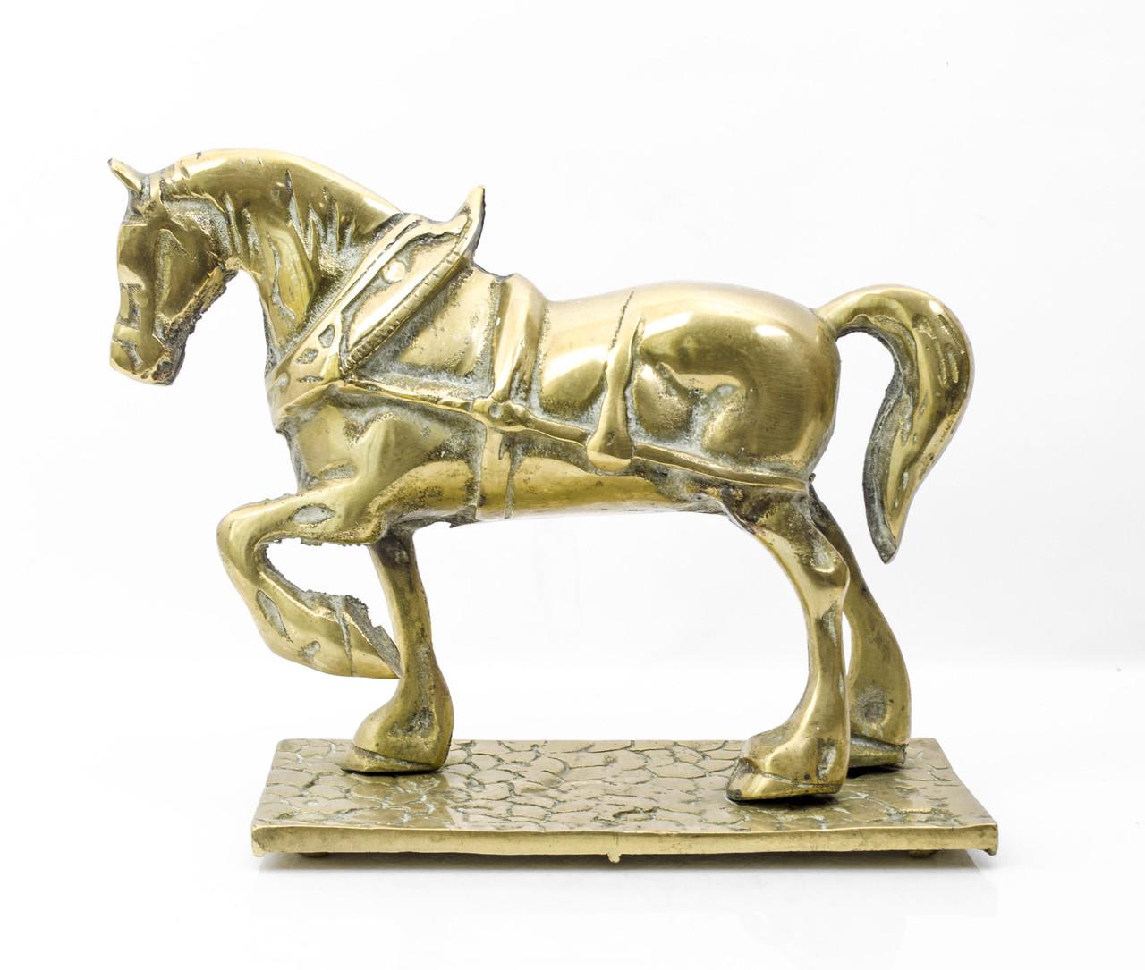 Стара скульптура, кінь, кінь, латунь, Англія