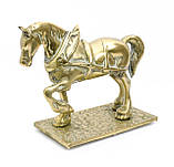 Стара скульптура, кінь, кінь, латунь, Англія, фото 2
