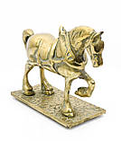 Стара скульптура, кінь, кінь, латунь, Англія, фото 3