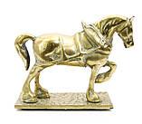 Стара скульптура, кінь, кінь, латунь, Англія, фото 4
