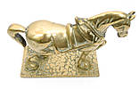Стара скульптура, кінь, кінь, латунь, Англія, фото 5